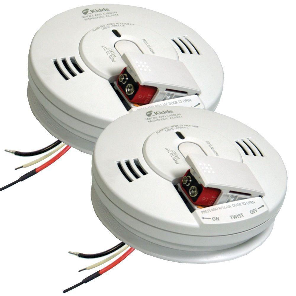 Best Set Kidde FireX Hardwire Smoke and Carbon Monoxide bination Detector 2 pack