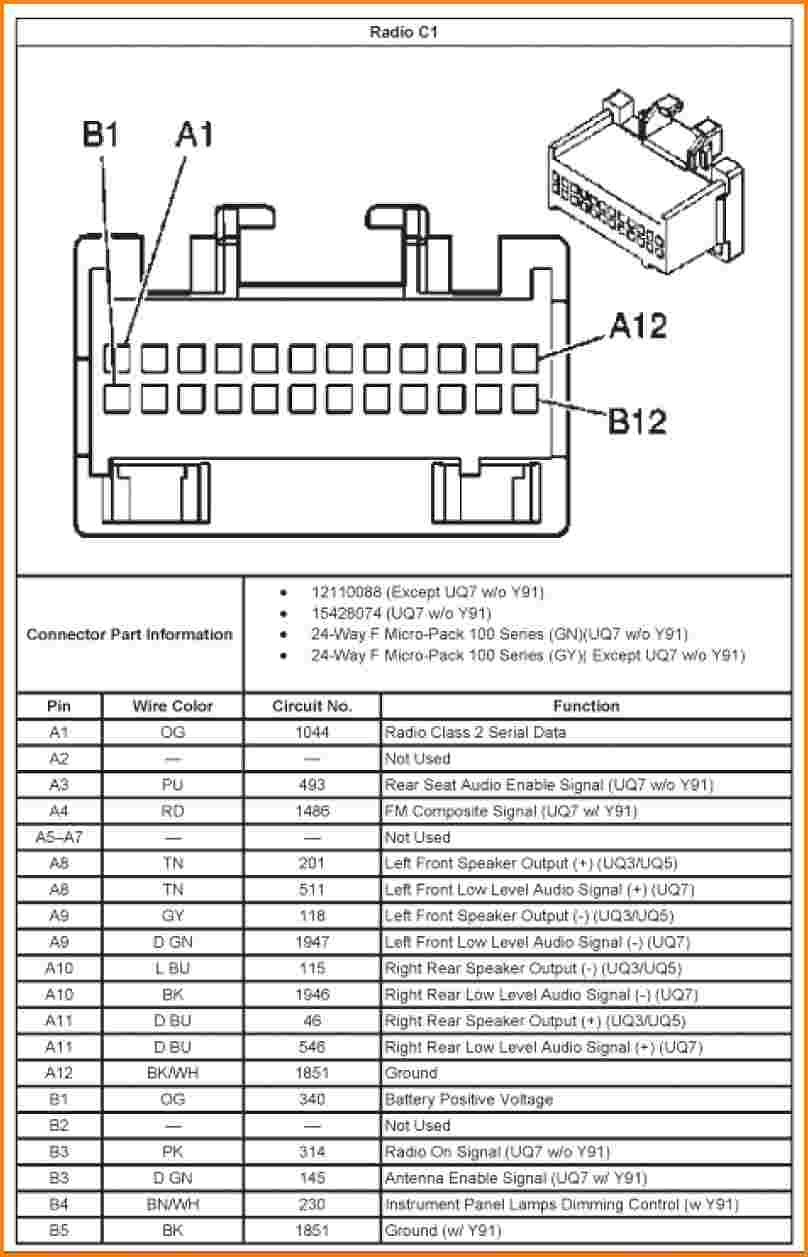 Wiring Schematic For Stereo For 2005 Trailblazer Elegant