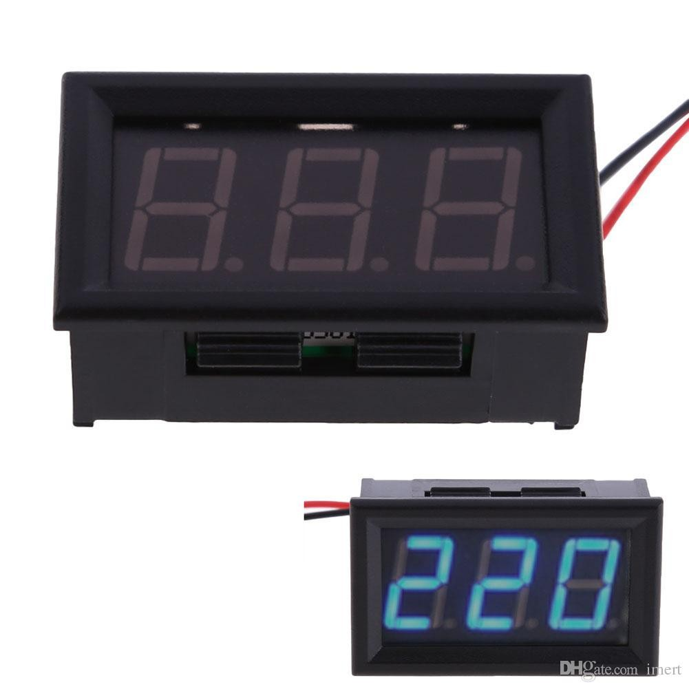 New AC 30 500V Digital Voltmeter Voltage Panel Meter LED AC 30 500V Digital Voltmeter Voltage Display W 2 Wires Security Personnel Equipment Security
