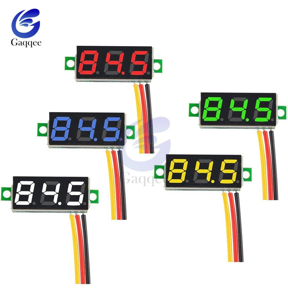 0 28 inch Mini DC 0 100V 3 Wire Gauge Voltage Meter Voltmeter Digital LED