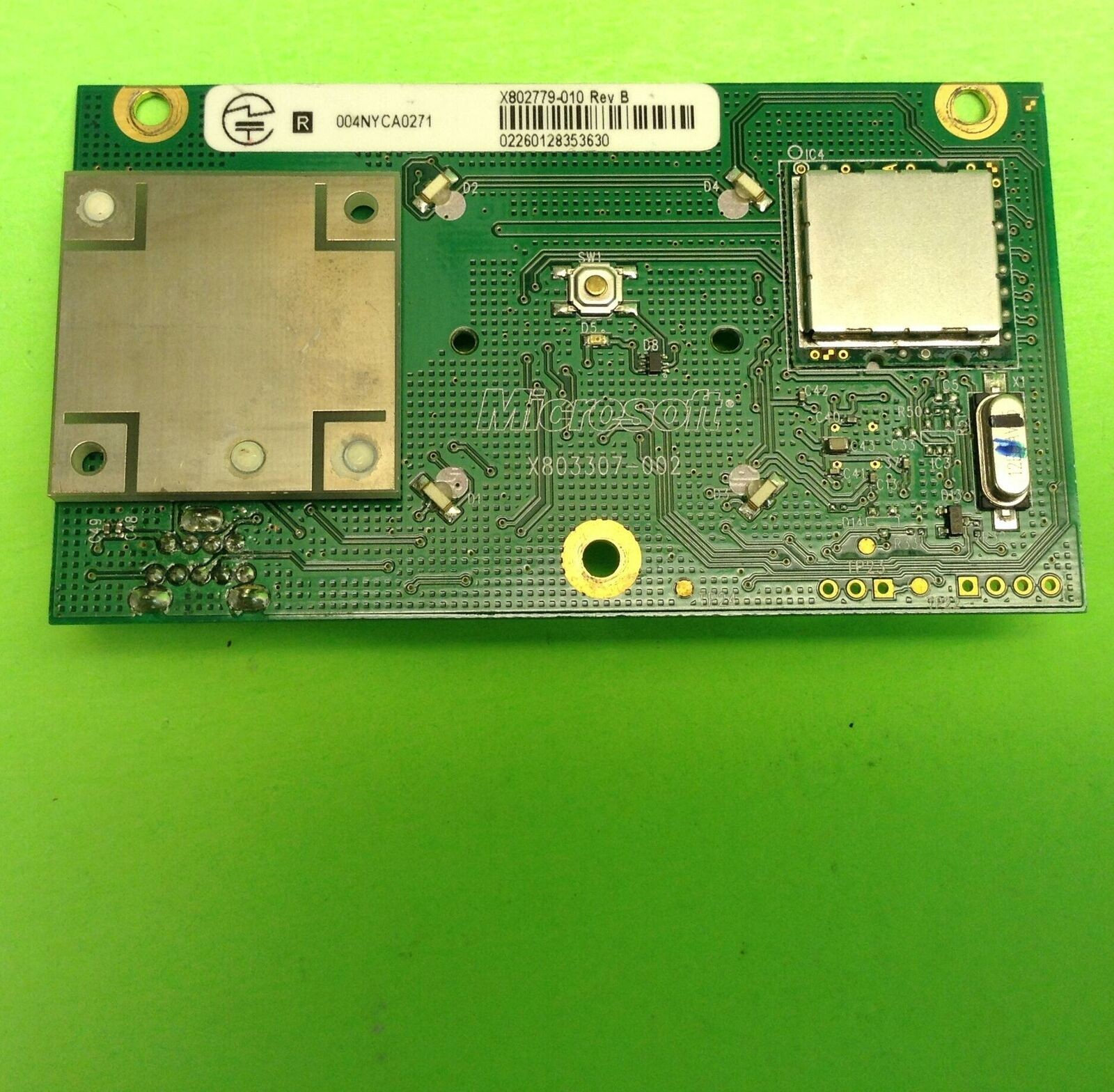 MICROSOFT XBOX 360 VIDEO GAME RF MODULE AND POWER BUTTON BOARD X 002 X 010