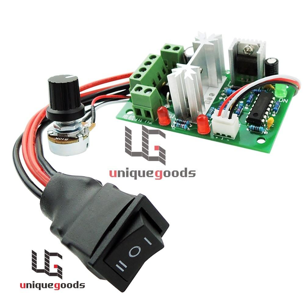 12V 24V 30V DC Motor speed Controller Reversible PWM Control Forward Reverse Switch