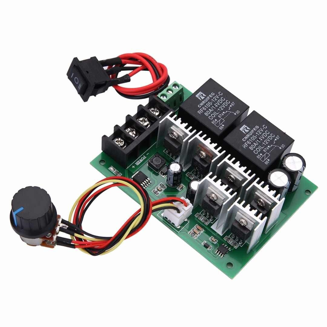 High Power Fast Speed Regulator For DC Brush Motor PWM Motor Speed Controller CW CCW Reversible q50