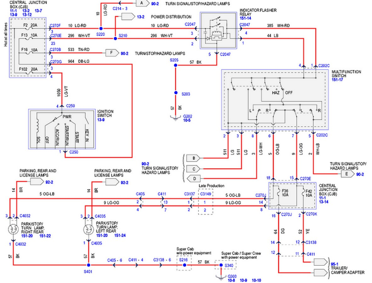 2002 ford f 150 tail light wiring diagram moreover 1989 ford bronco