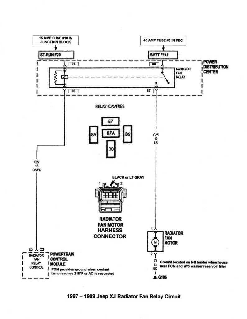2002 Cherokee Coolinf Fan Wiring Diagram