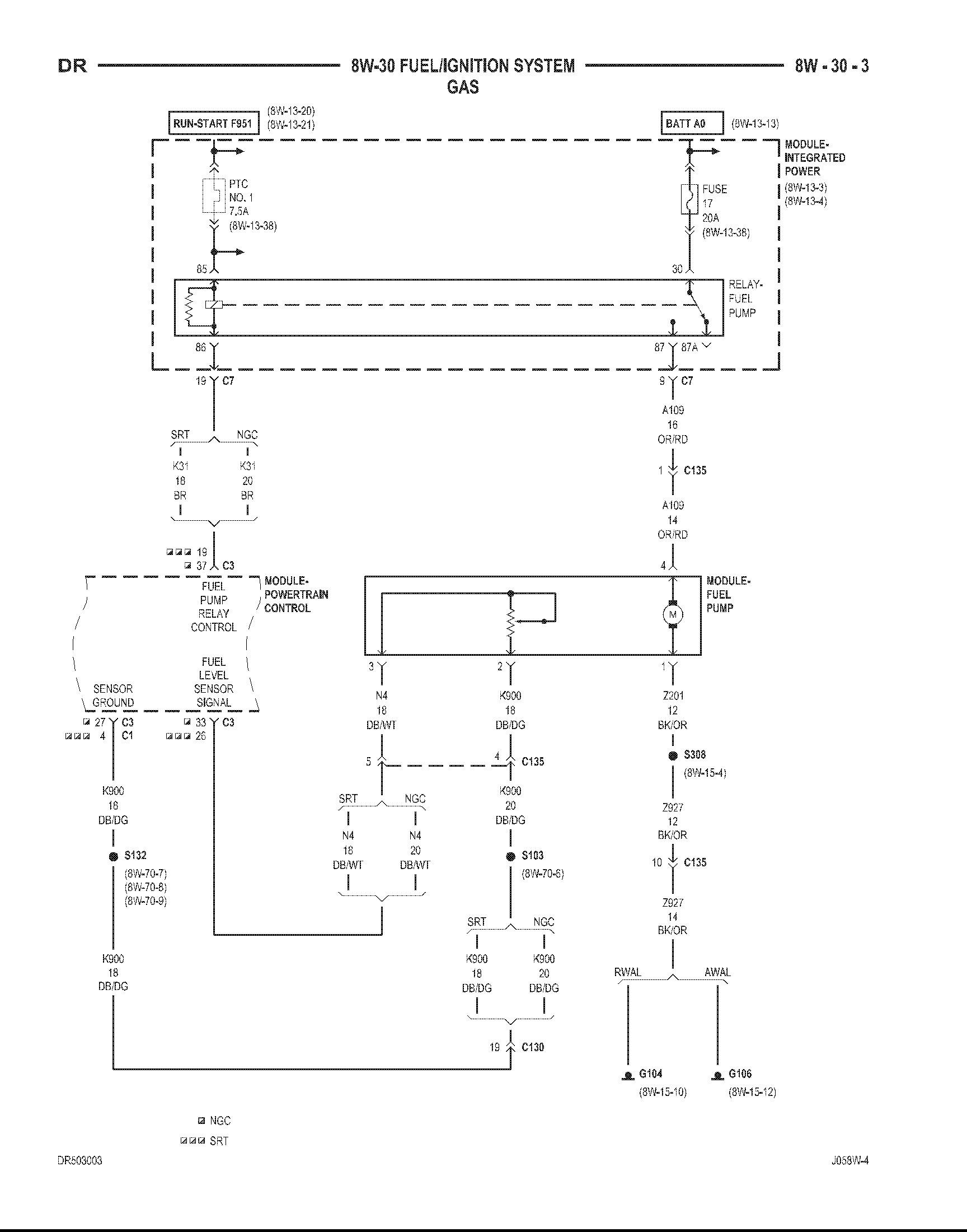 fuel pump wiring diagram