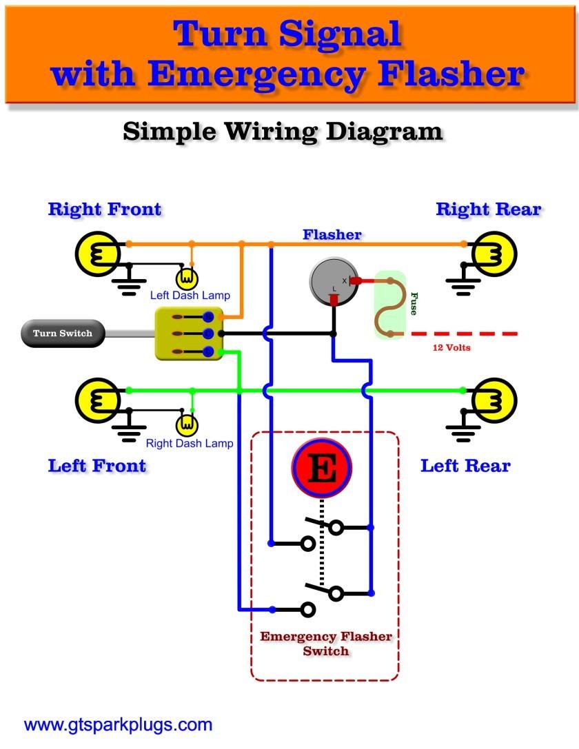 emergency flasher diagram