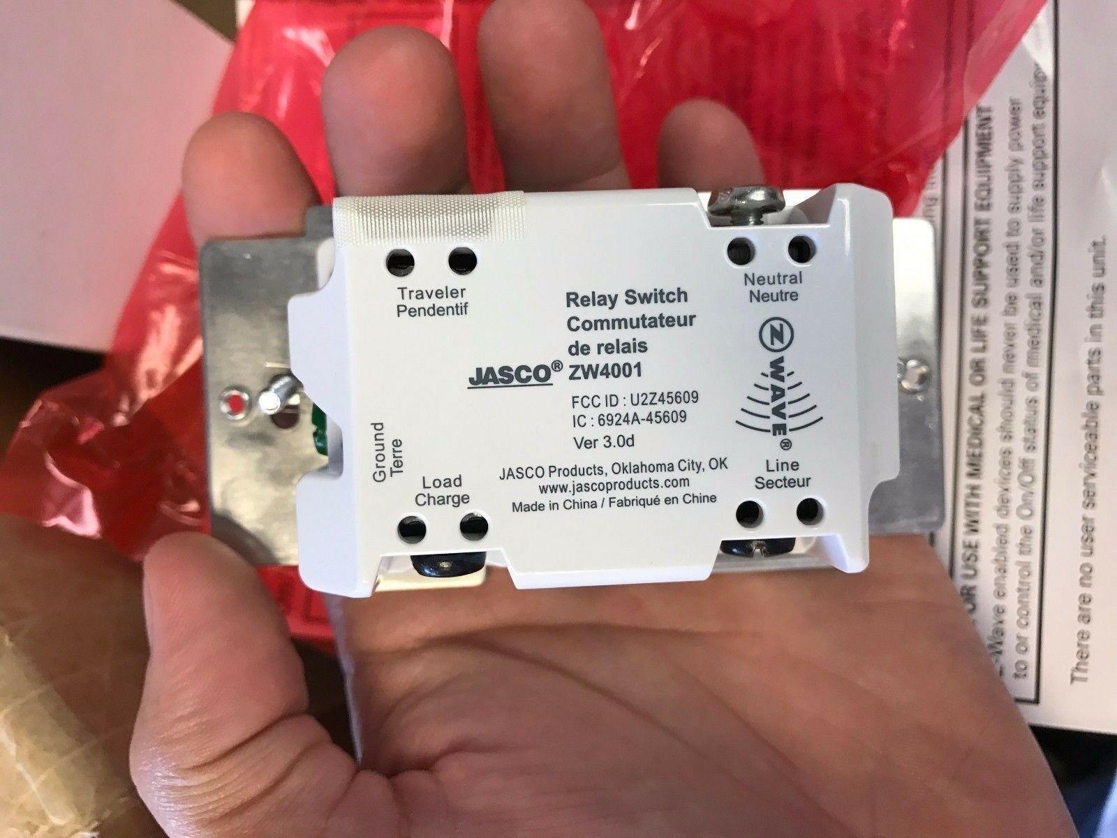 jasco zw4001 z wave wireless lighting control onoff relay switch