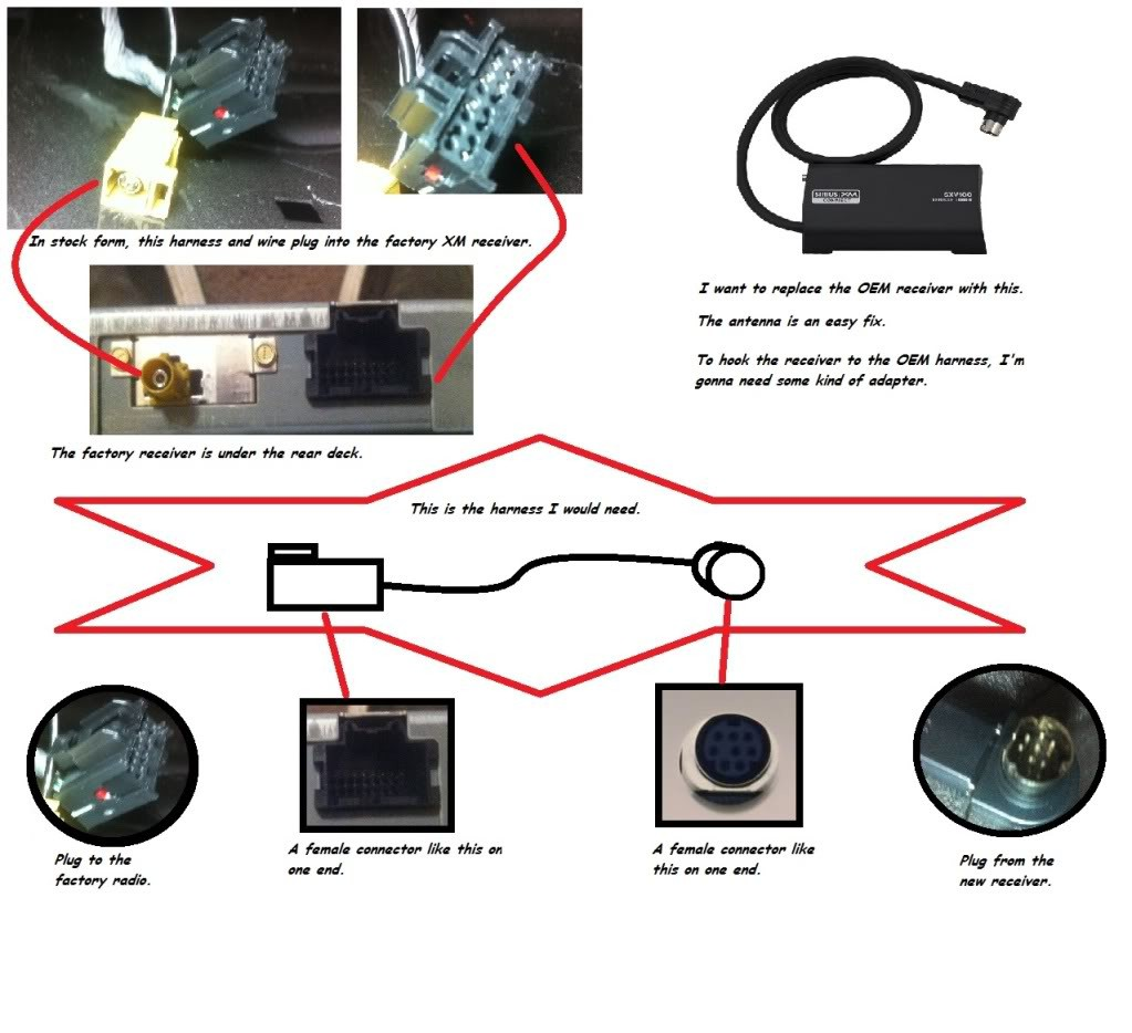 d swapping oem xm receiver aftermarket via harness xmradiodiagram