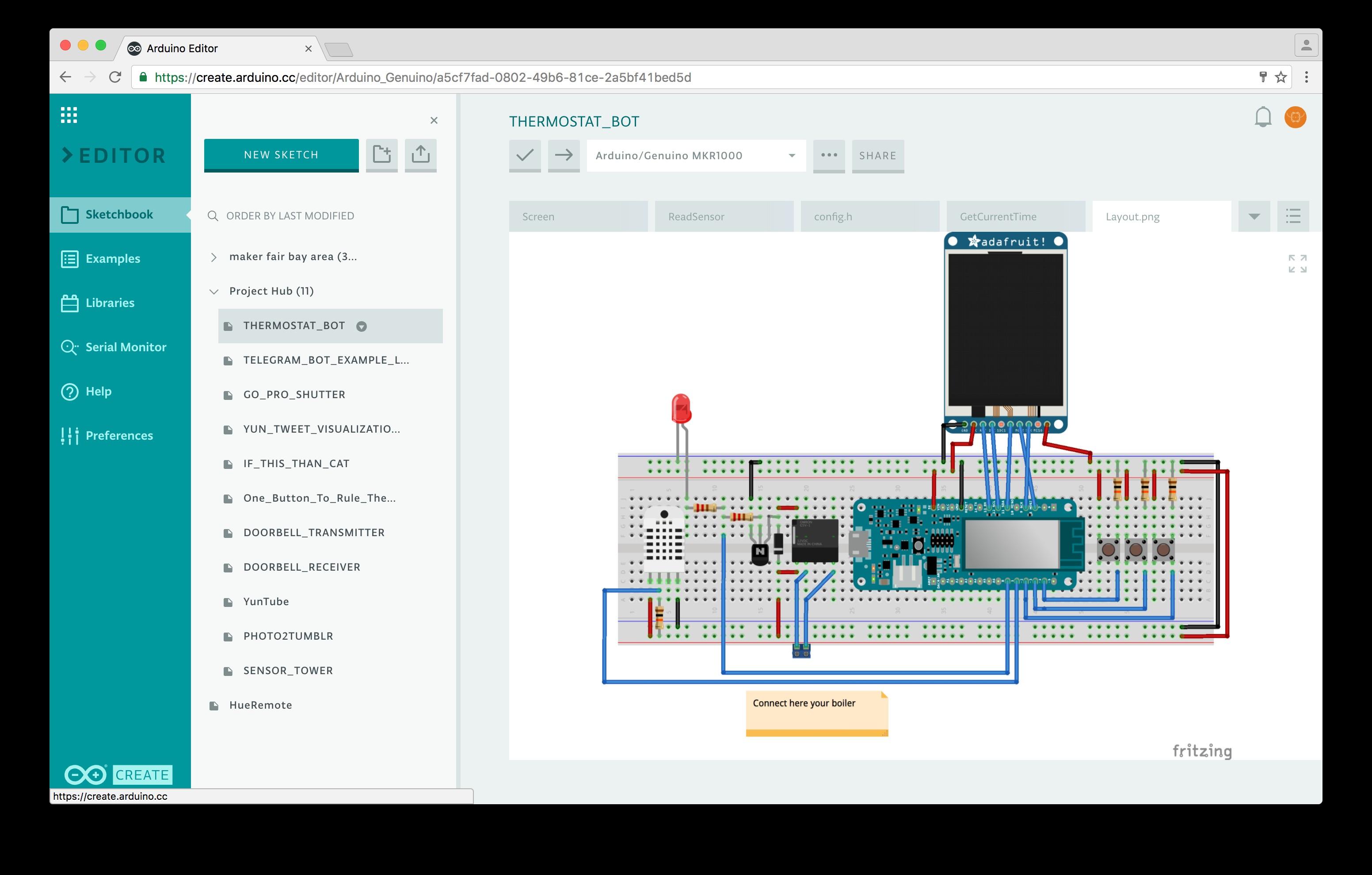 ArduinoWebEditor layout