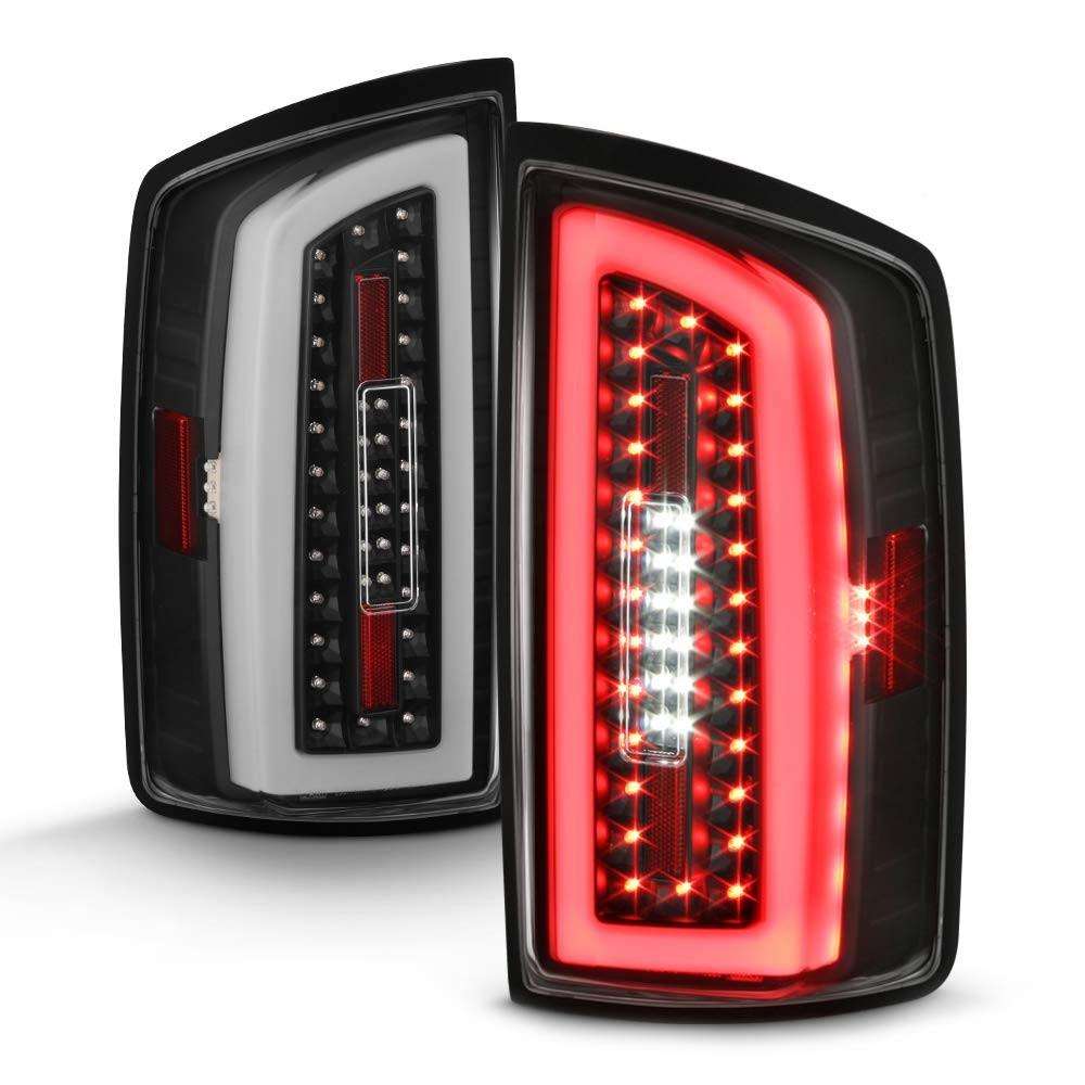 07 08 dodge ram 1500 2500 3500 pickup neon tube led tail lights black 2
