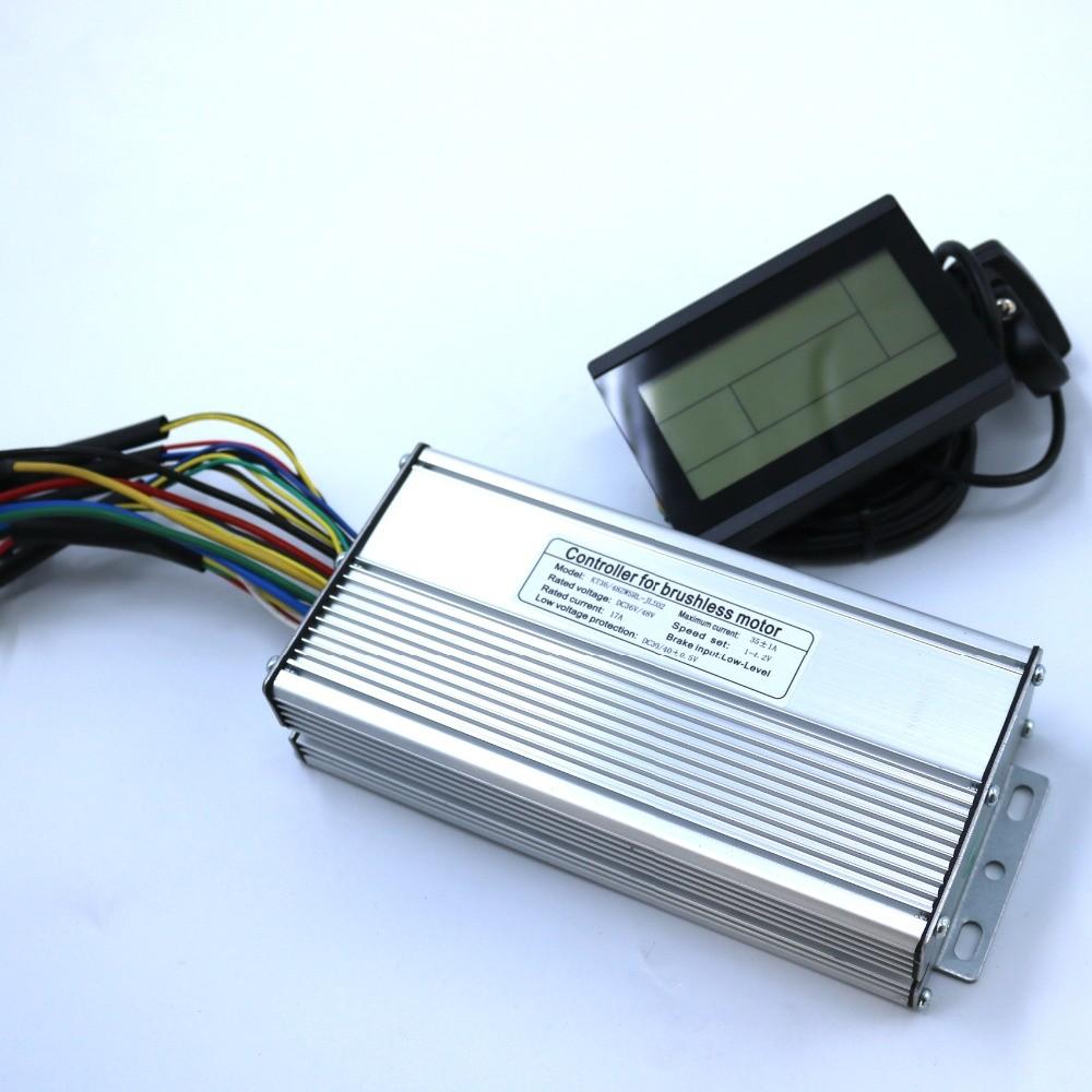 800 W 1000 W 35 Amax 48 V Fırçasız dc motor kontrolörü Ebike Denetleyicisi KT LCD3
