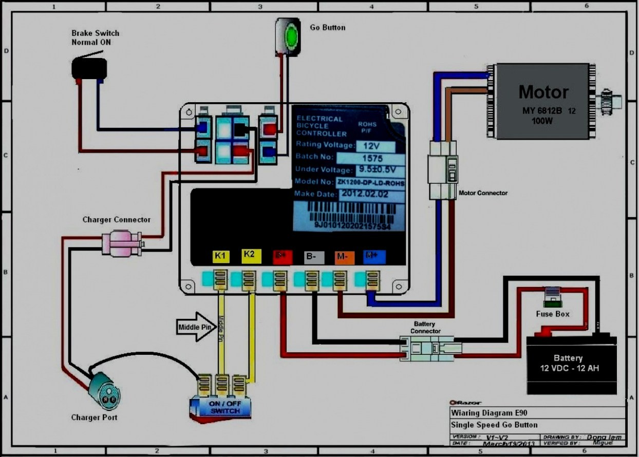 razor e100 electric scooter wiring diagram parts all wiring diagram