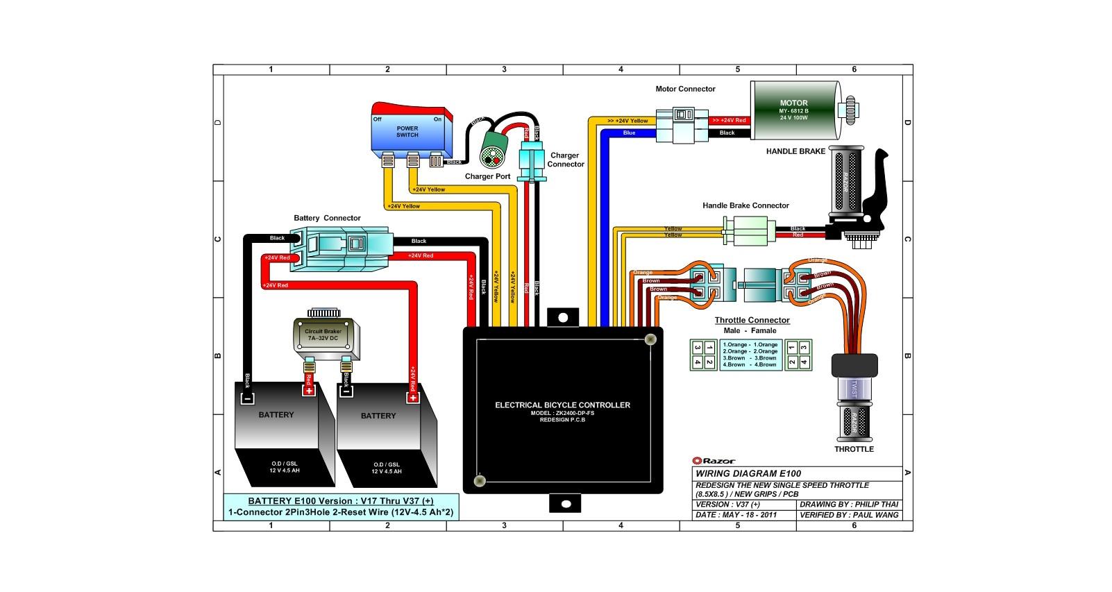 razor electric scooter wiring diagram online wiring diagram