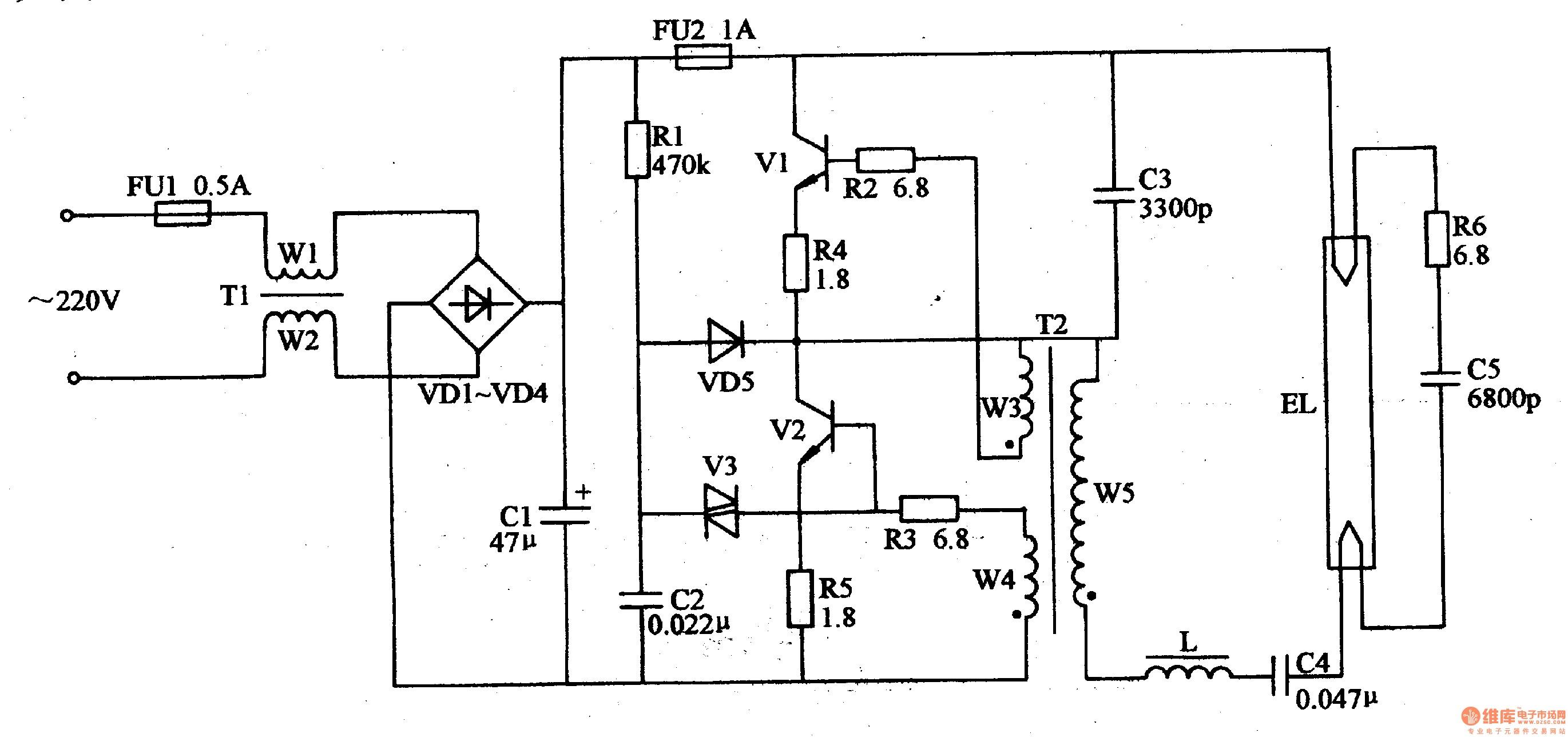 electronic ballast schematic diagram wiring diagram database