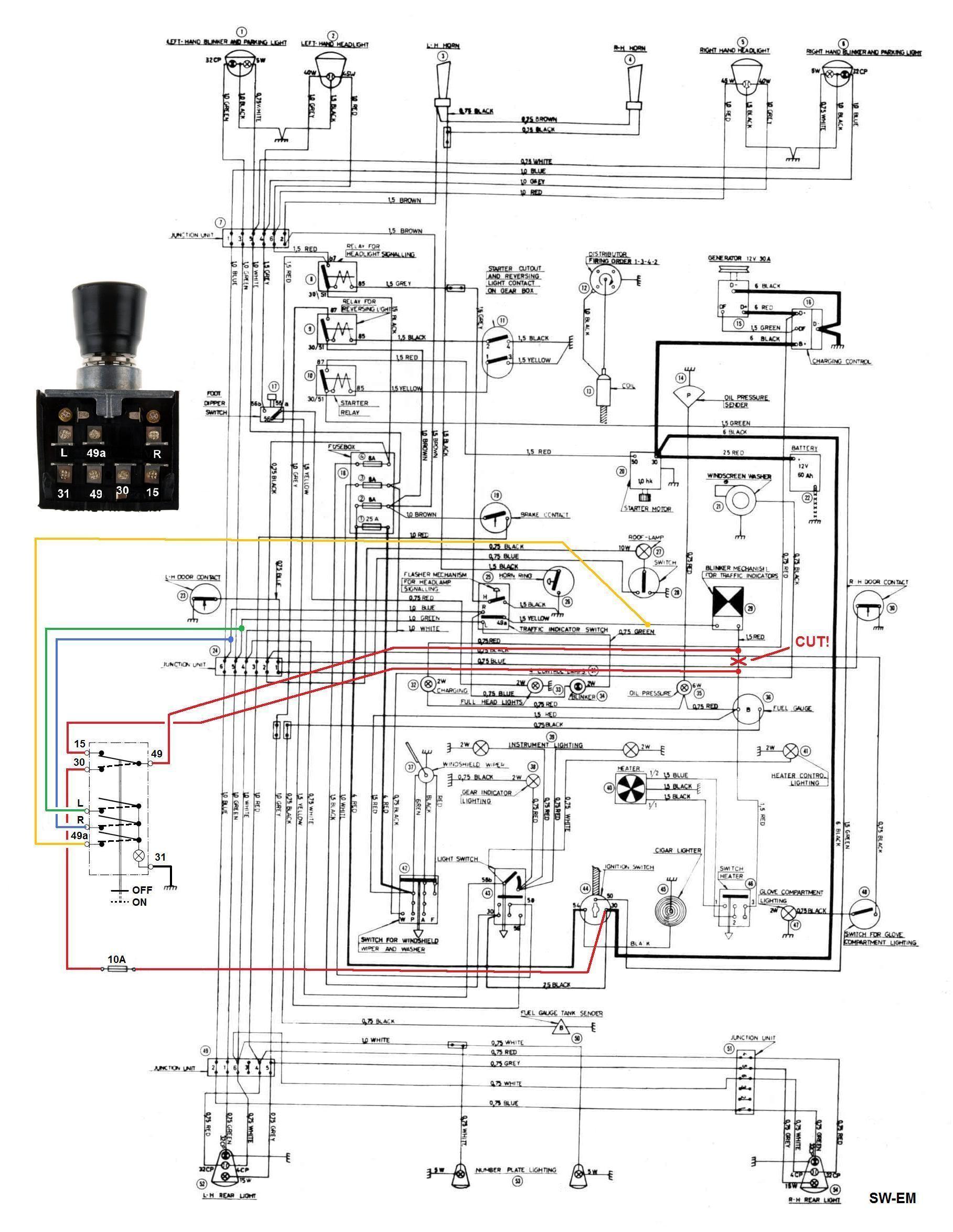 122S Wiring Diagram Nesan E Flasher