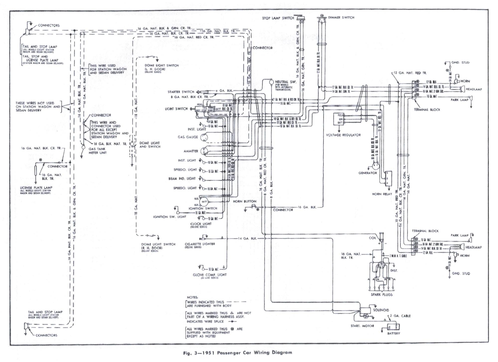 1951 chevrolet wiring diagram