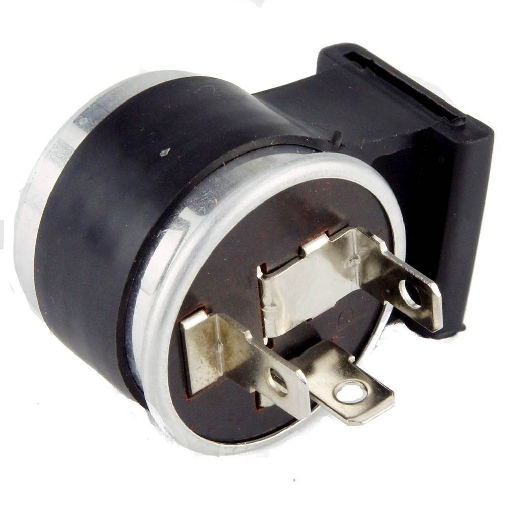 black 6 volt flasher relay 3 pin with warning light feed