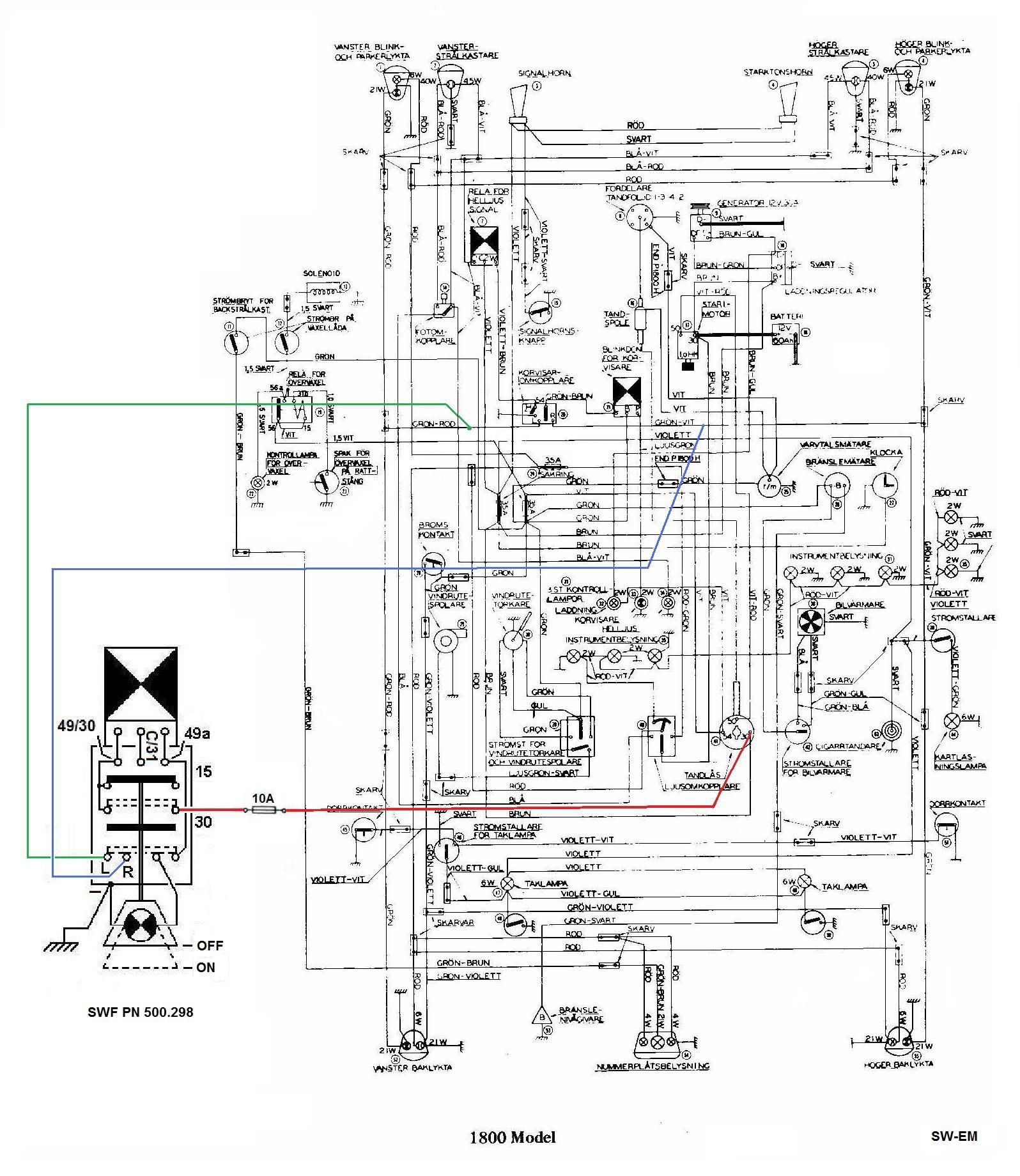 1800 Wiring Diagram SWF E flasher Switch