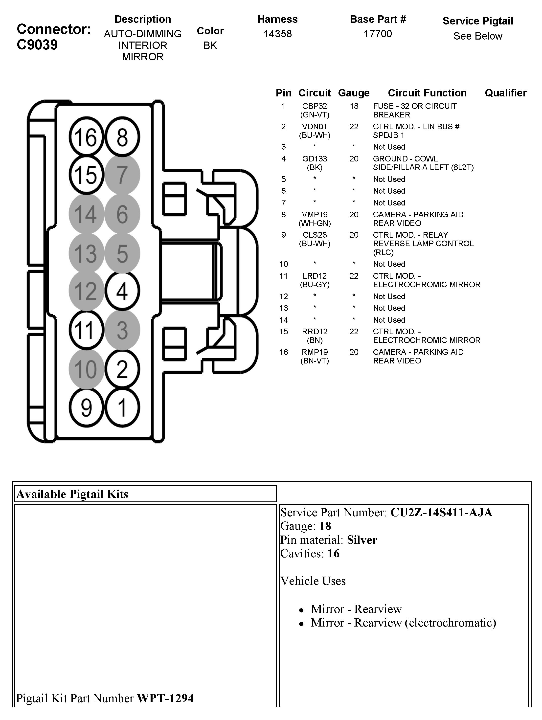 rear view mirror wiring diagram data wiring diagram