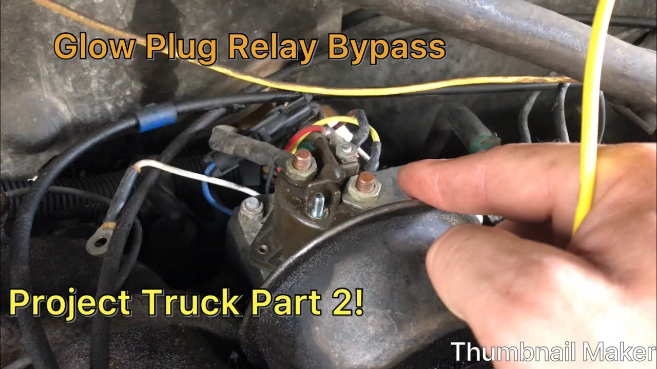 How To Wire In A Starer Button On Glow Plugs On A 7 3 Idi