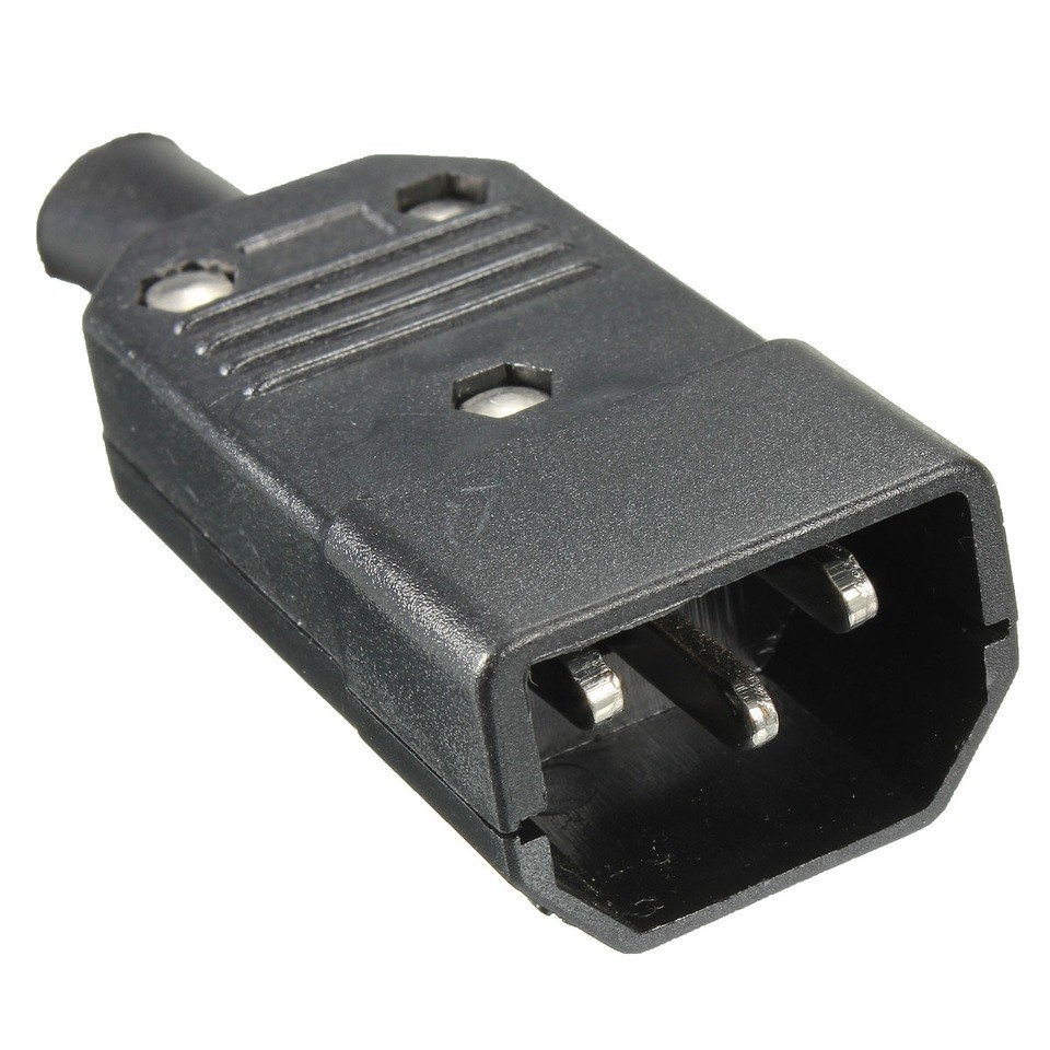 New Wholesale Price Black IEC C14 Male Plug Rewirable Power Connector 3 pin Socket 10A 250V 960x960