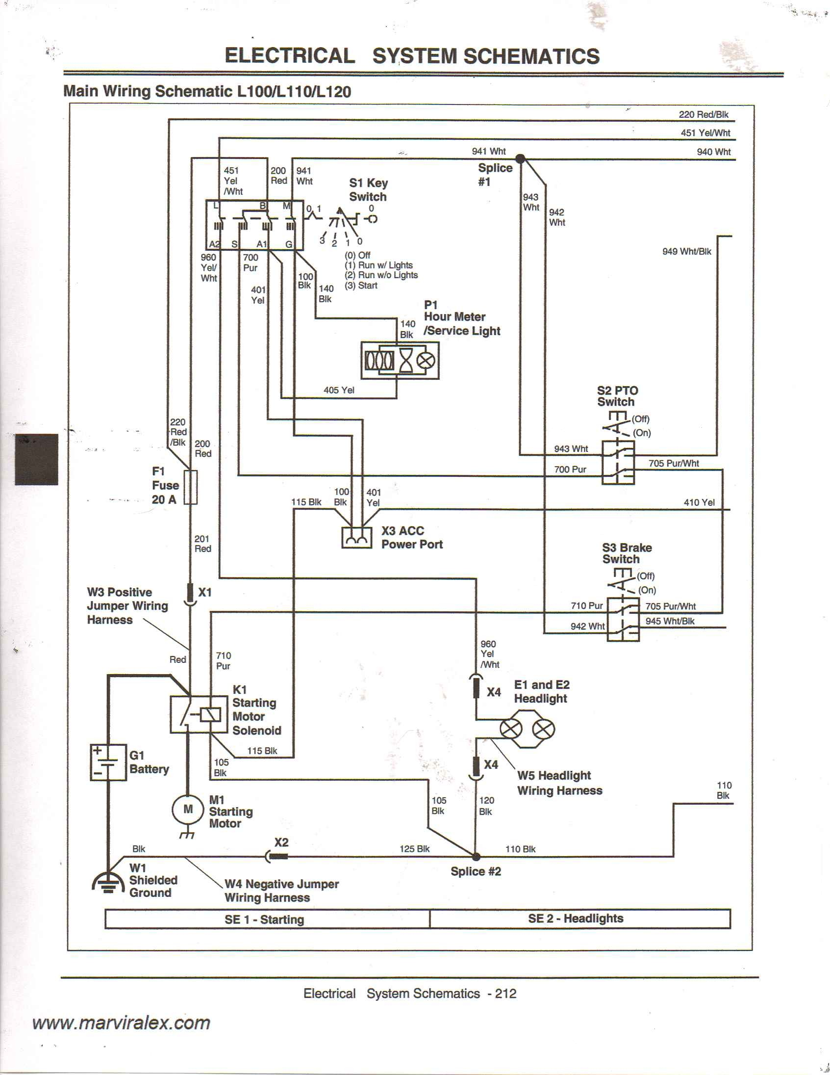 i need a wiring diagram for a 2004 jd l110 mower the mower will not