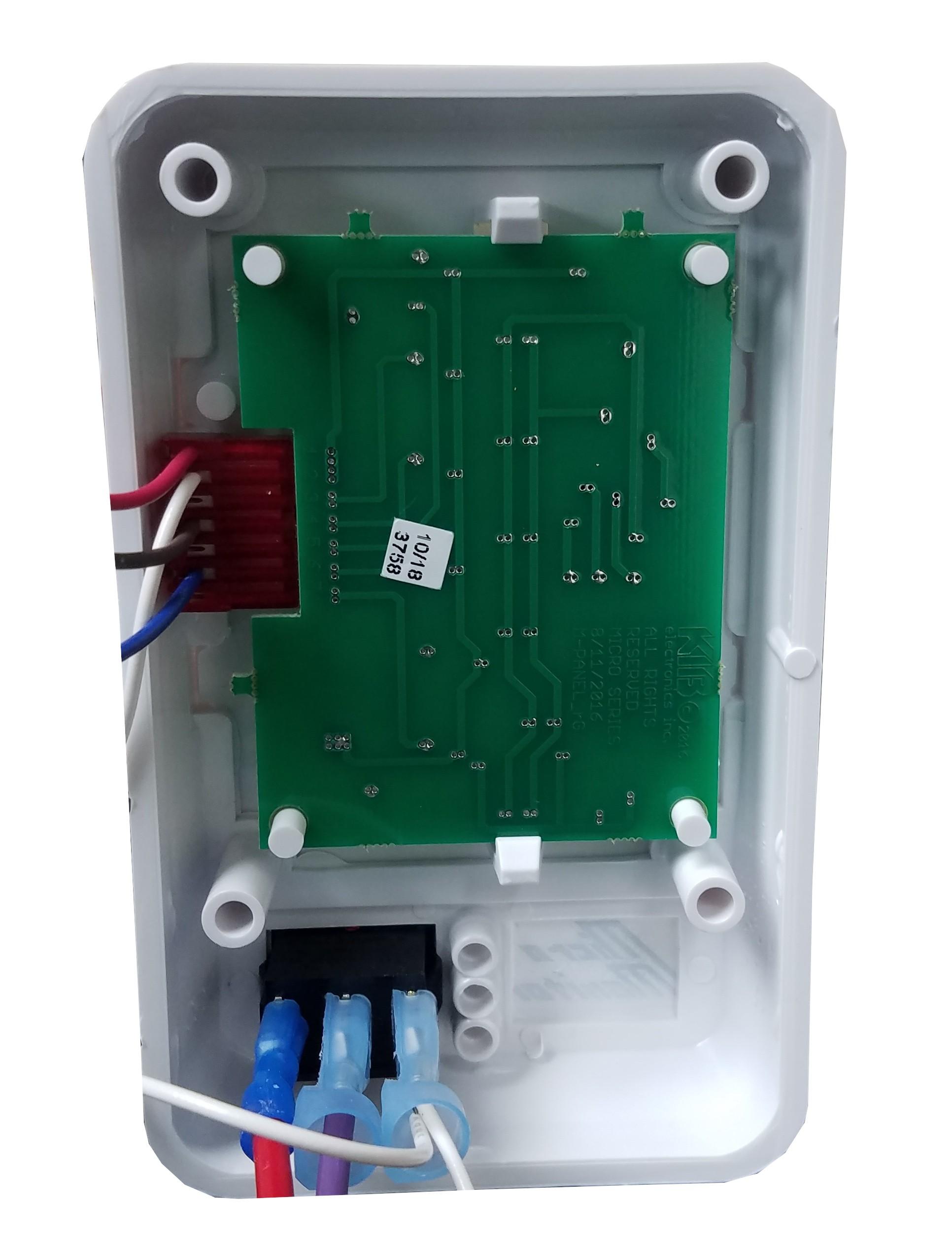kib 2 tank monitor panel 12 volt white face plate class a customs