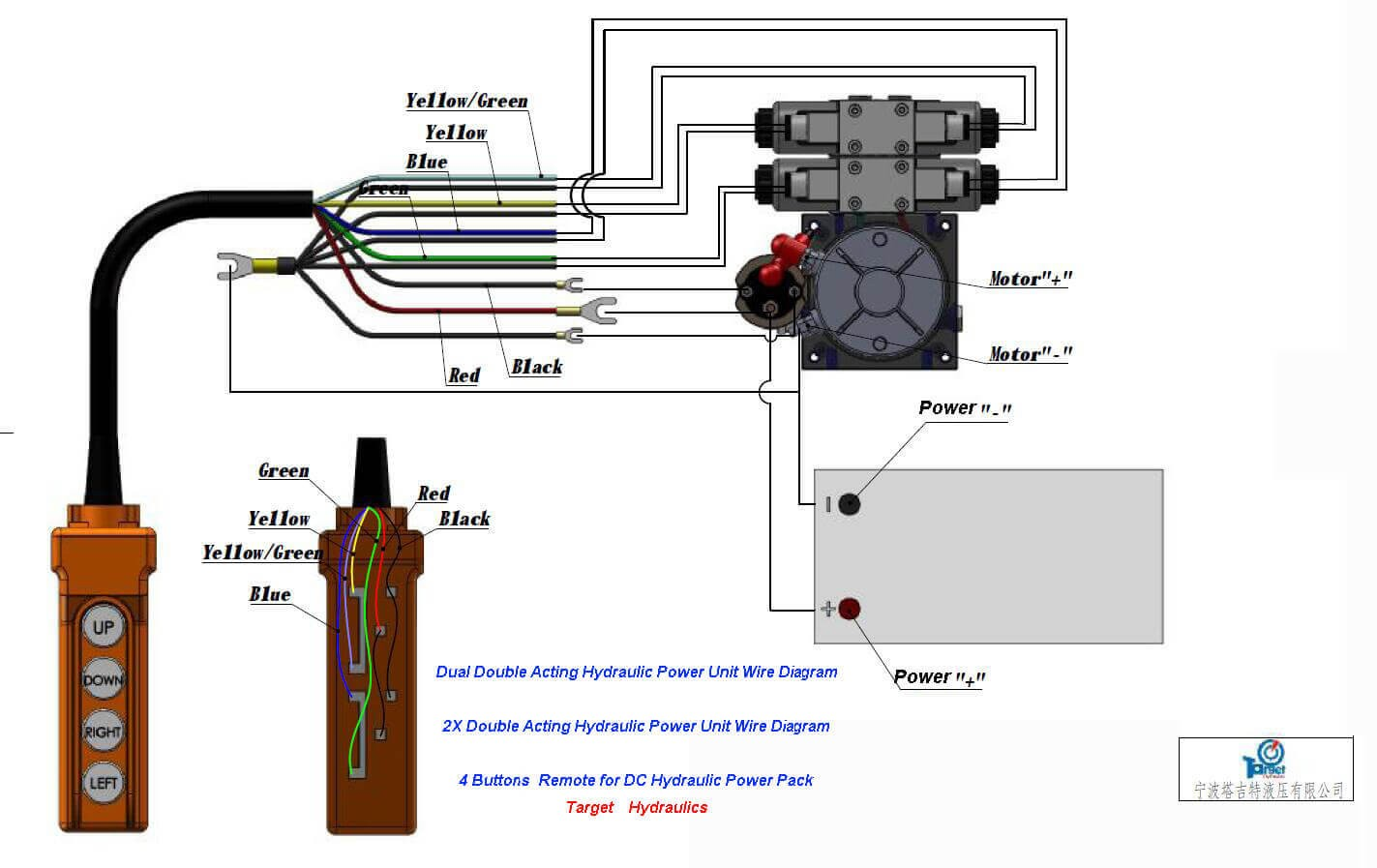 dual double acting hydraulic cylinder Power Units Wiring Diagram drawing