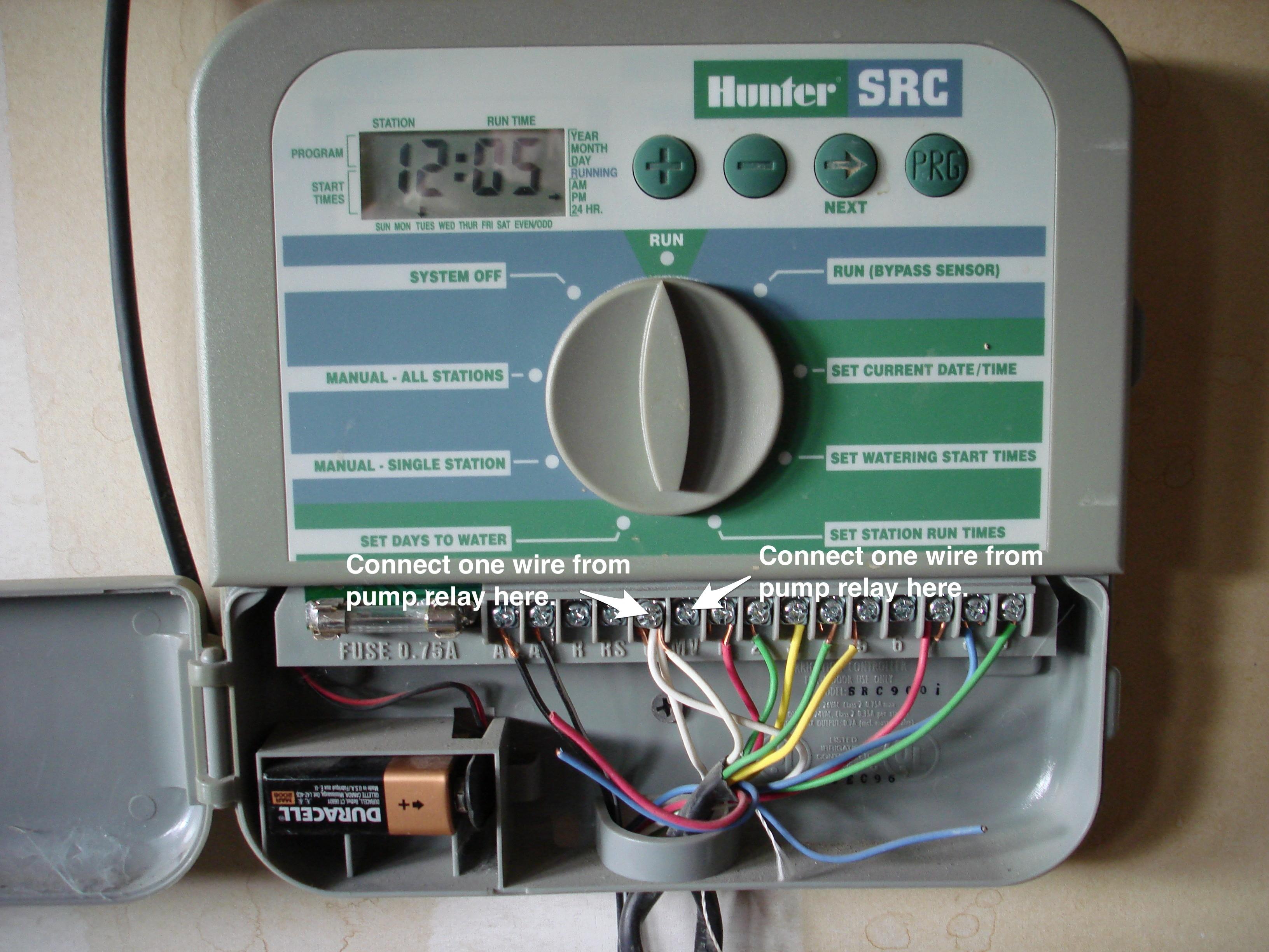 pump valve wiring