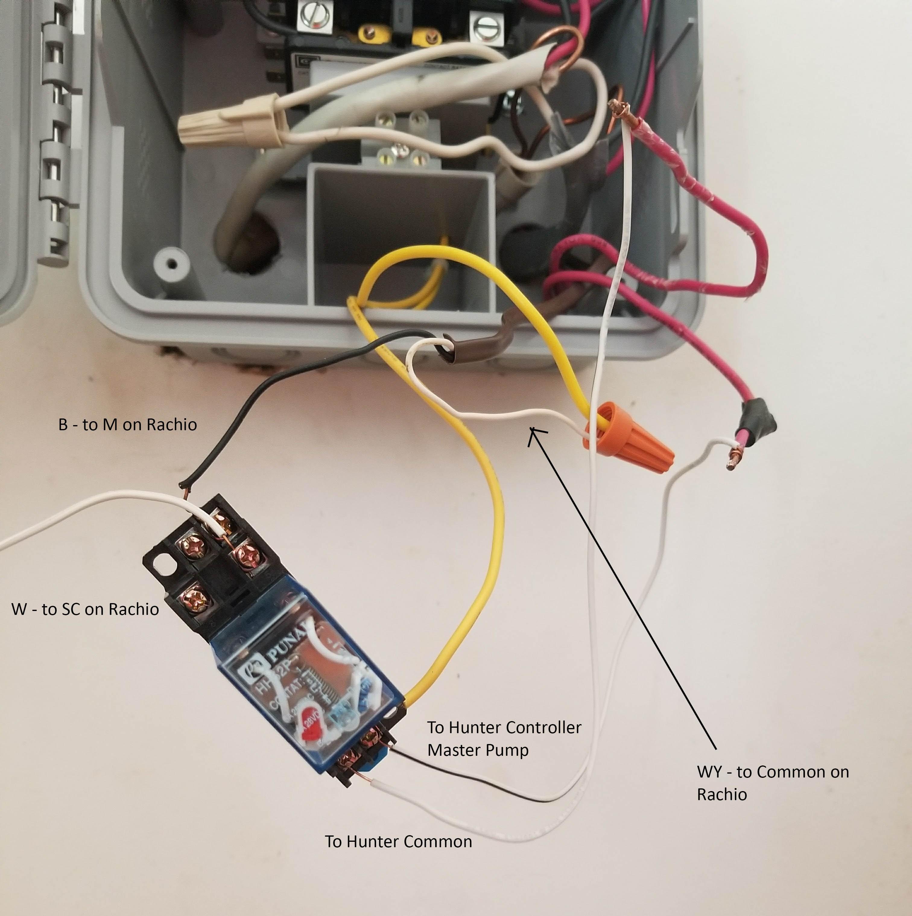 2nd gen sharing a pump start relay with a hunter controller
