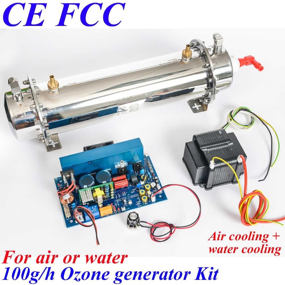 Pinuslongaeva CE EMC LVD FCC 100g h Quartz tube type ozone generator Kit oem ozone sterilizing q50