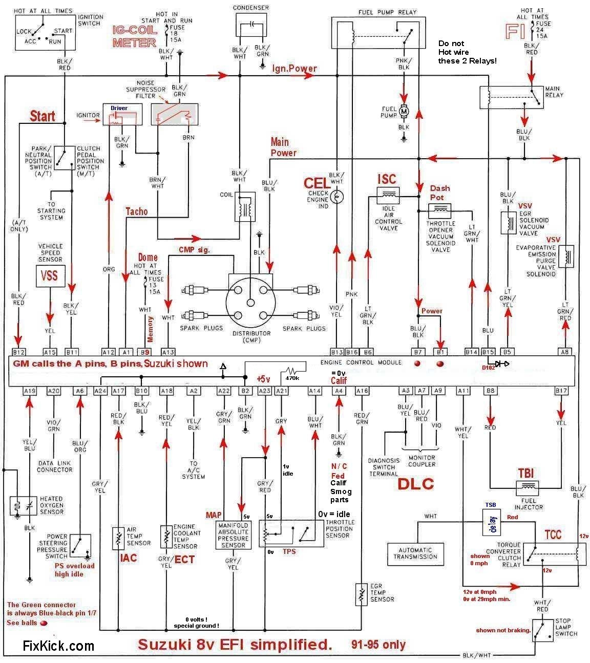 8v tbi schematic91to95