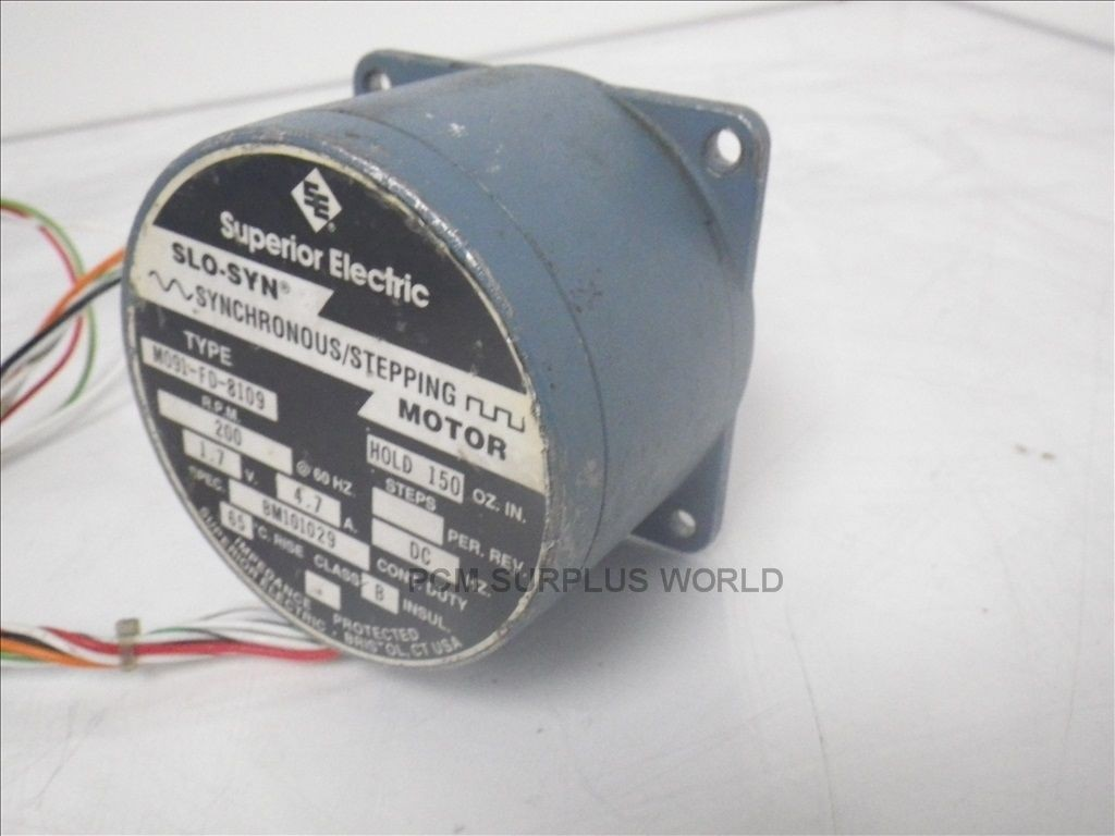 SUPERIOR ELECTRIC SLO SYN M091 FD 8109 M091FD8109 USED TESTED