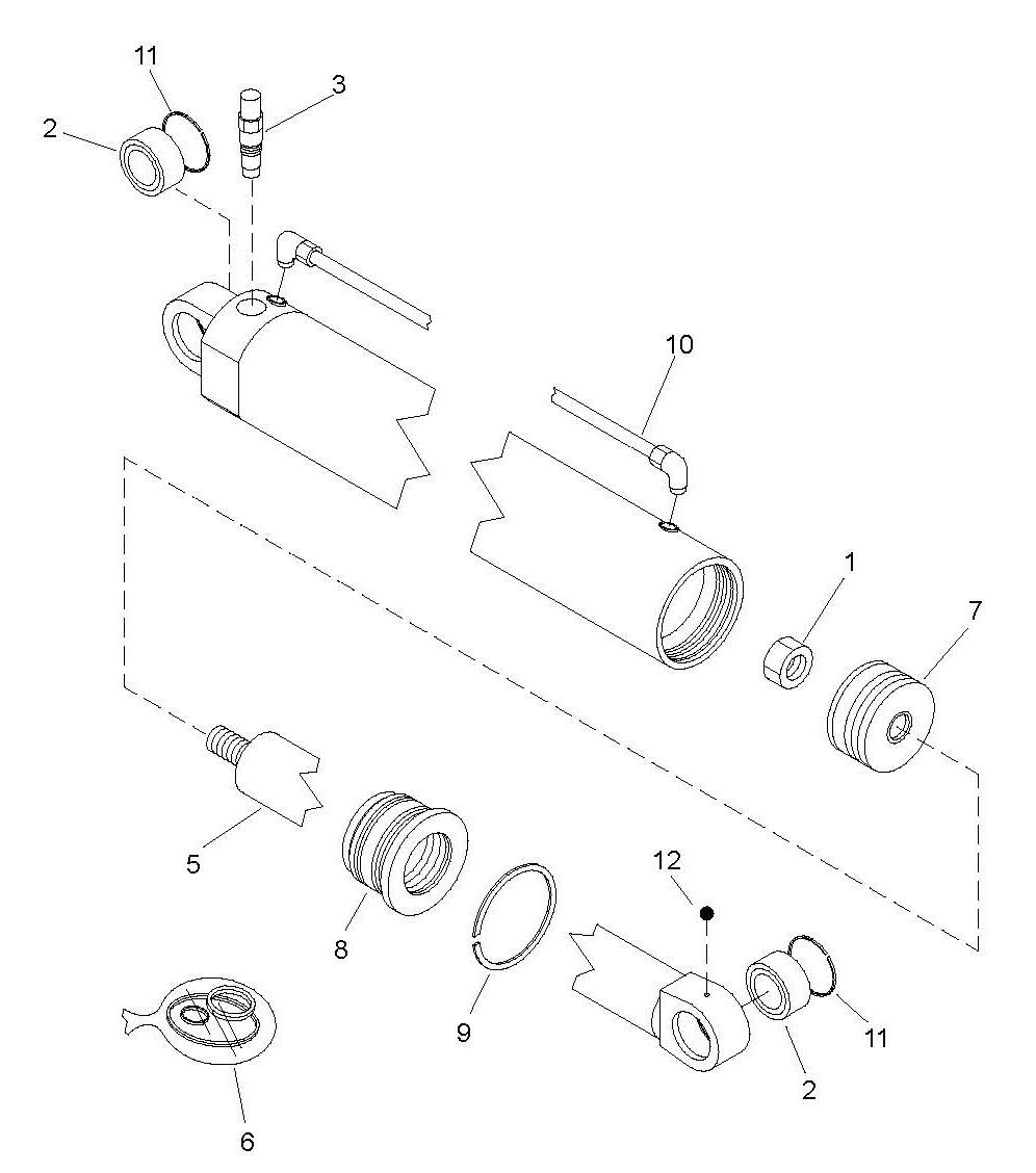 GEHL L Boom Lift Cylinder S N% & Up Assembly