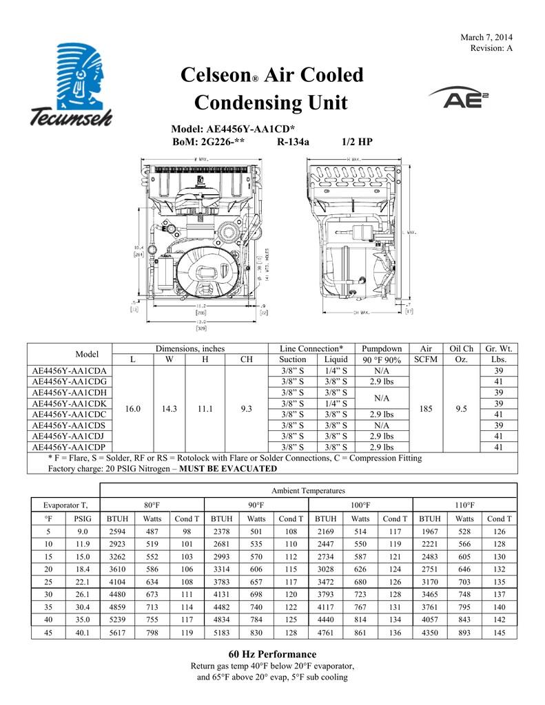 Tecumseh Compressor Ae4456y