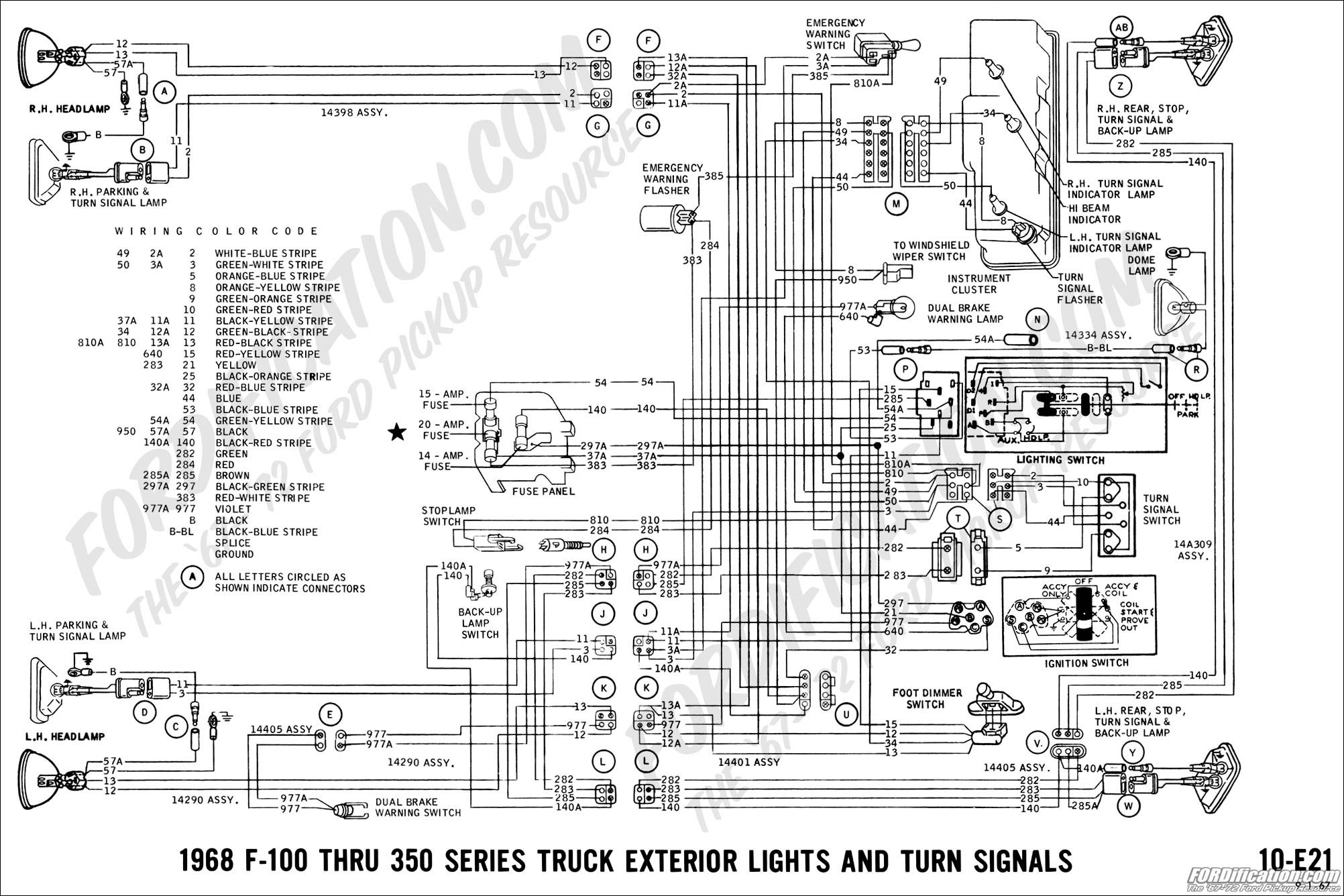 turn signal circuit diagram ford truck technical drawings and schematics section h wiring of turn signal circuit diagram