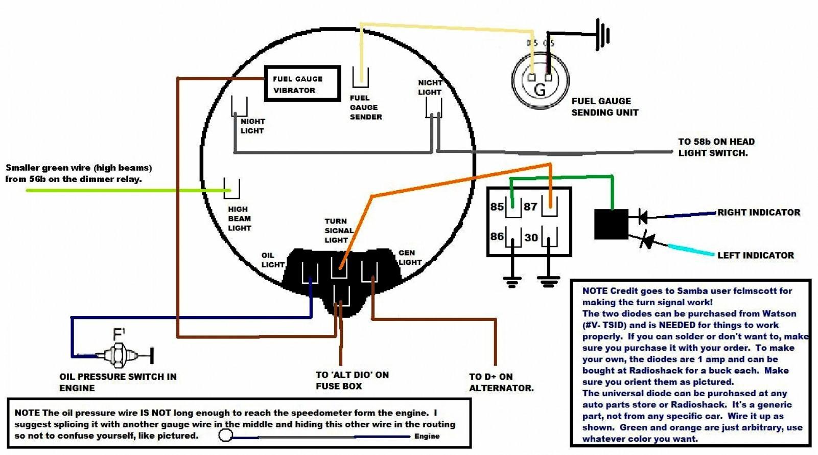 vdo gauges wiring diagrams fuel gauge diagram and schematics