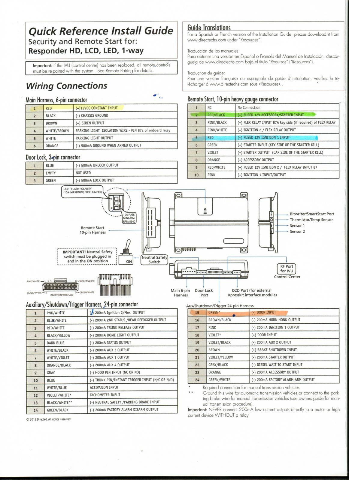 Viper 5706v Installation Guide Diagram   Wiring Diagram Image