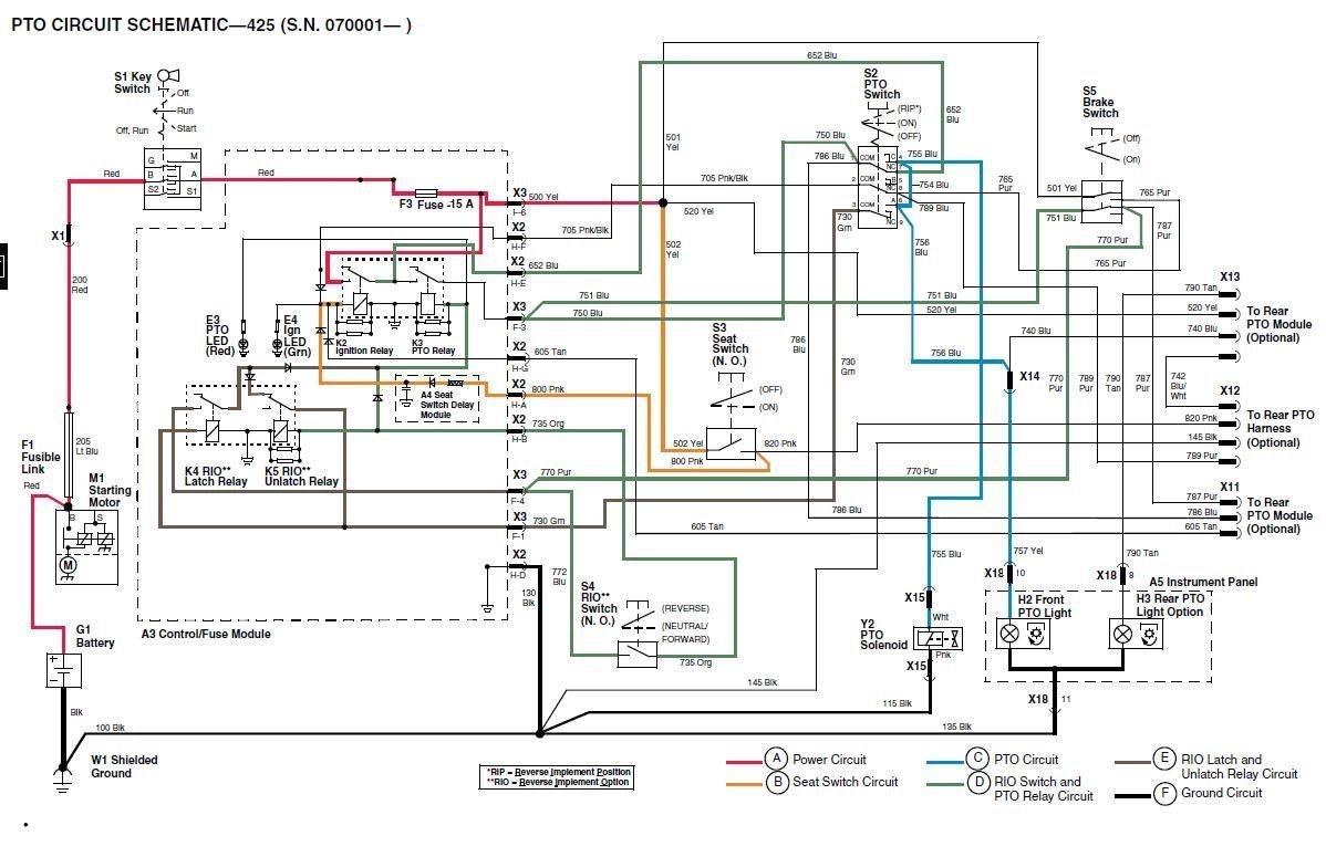 john deere pto diagram wiring diagram john deere 425 parts diagram