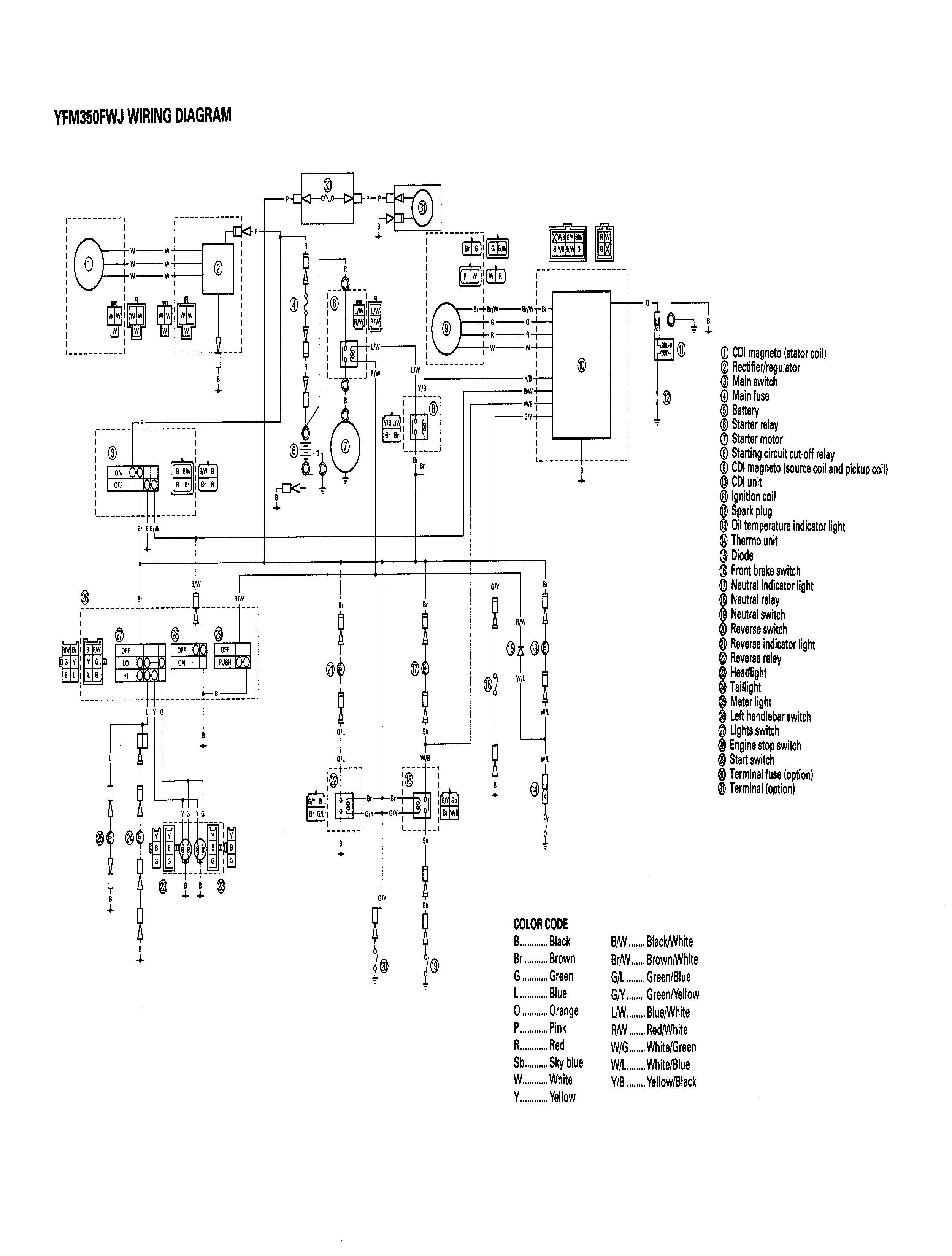d 1996 bigbear 350 4x4 wiring yamaha big bear 350 wiring diagram