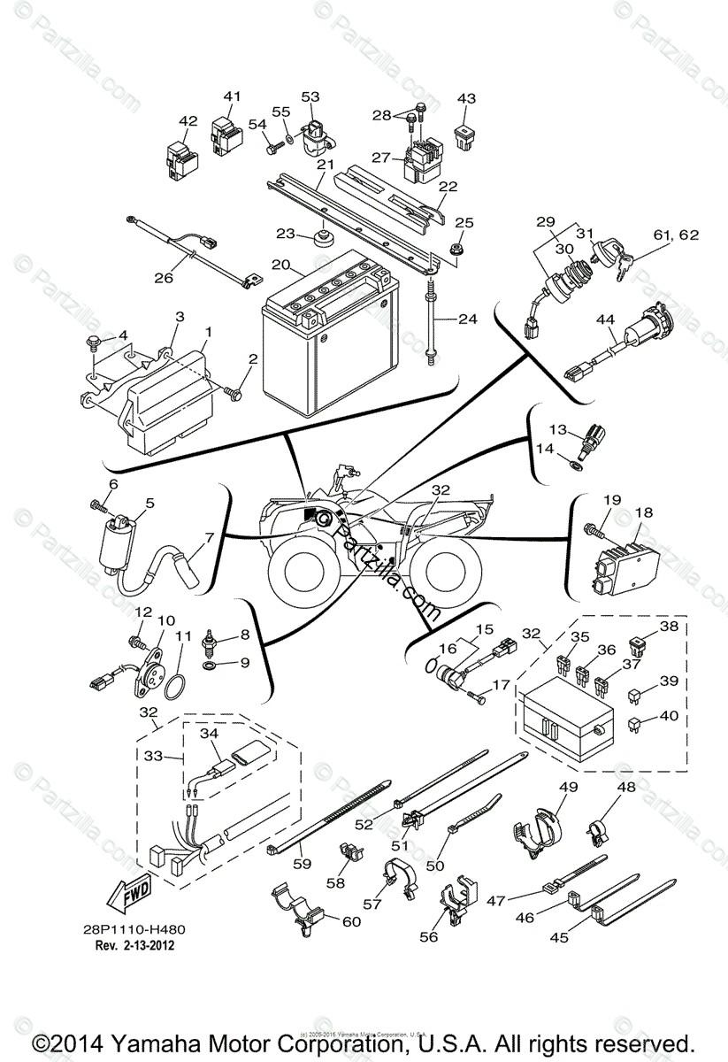 yamaha atv 2009 oem parts diagram for electrical 1 partzilla