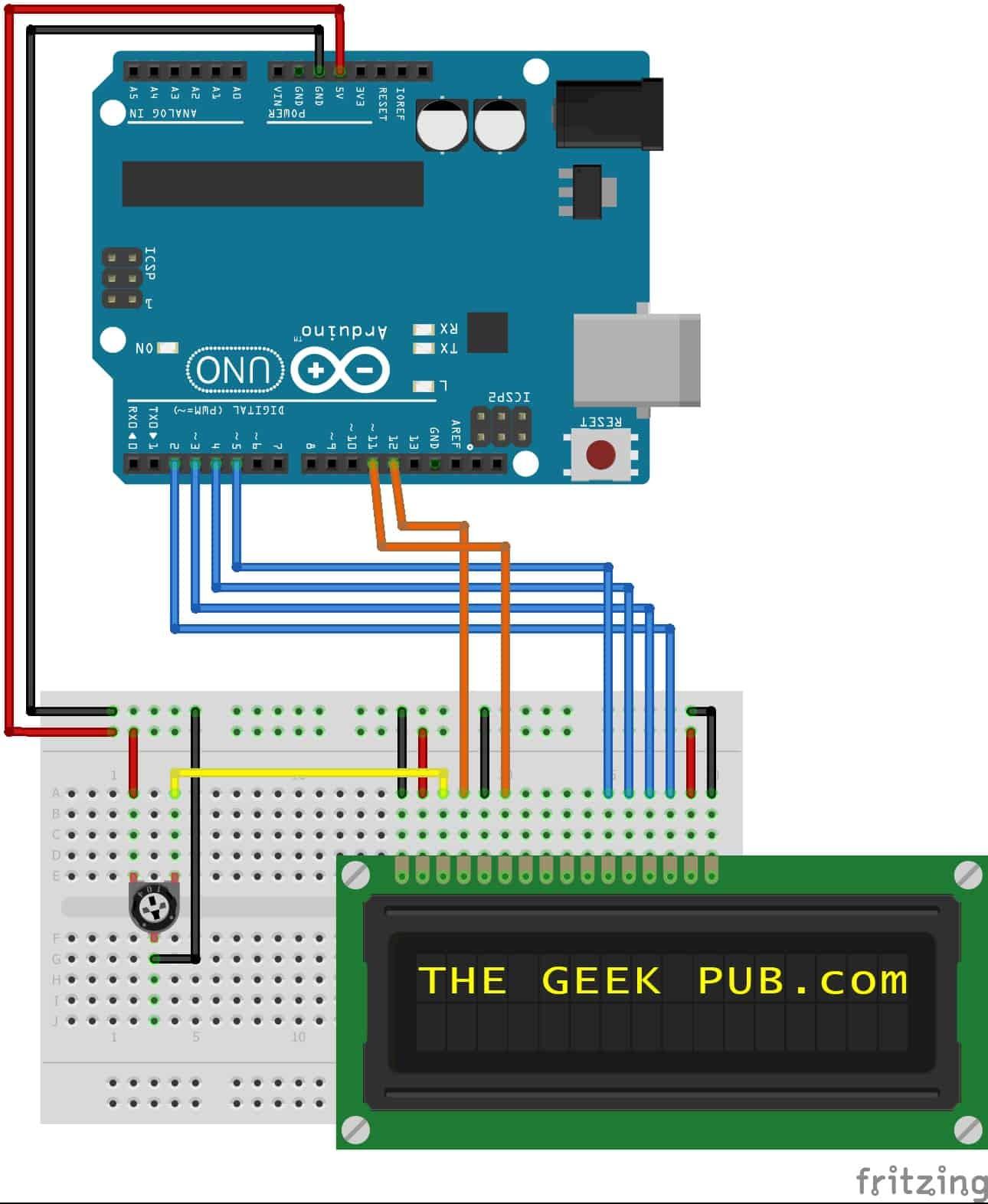Arduino LCD Display Wiring 0003 Arduino to LCD display wiring diagram
