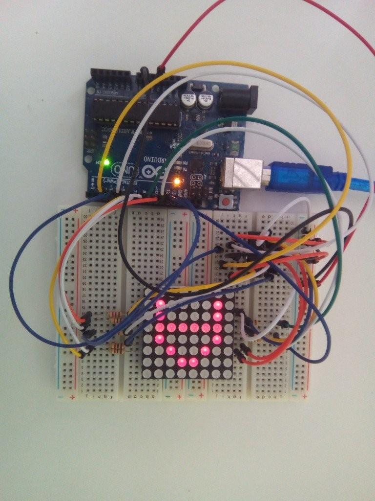 interfacing x led matrix with arduino circuit diagram code nkg84