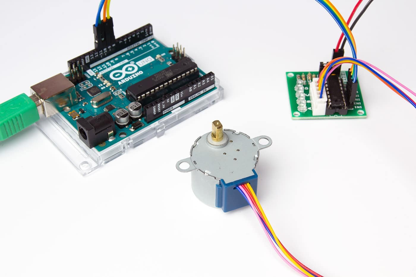 28byj 48 stepper motor with uln2003 driver and arduino tutorial 1