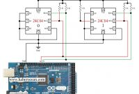Wiring Diagram for Arduino Maker Unique Circuit to Read and Write Data to Two 24c04 Ics