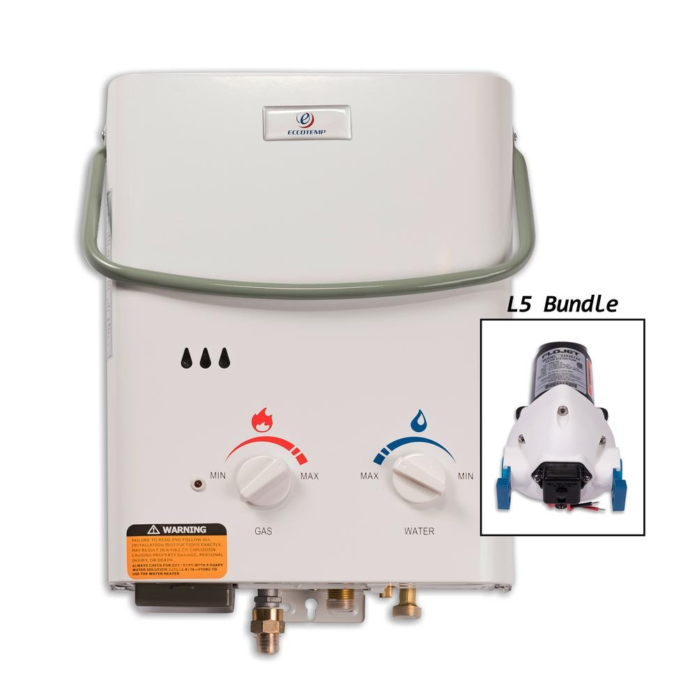 eccotemp tankless point of use water heaters l5 pump bundle e1 1000