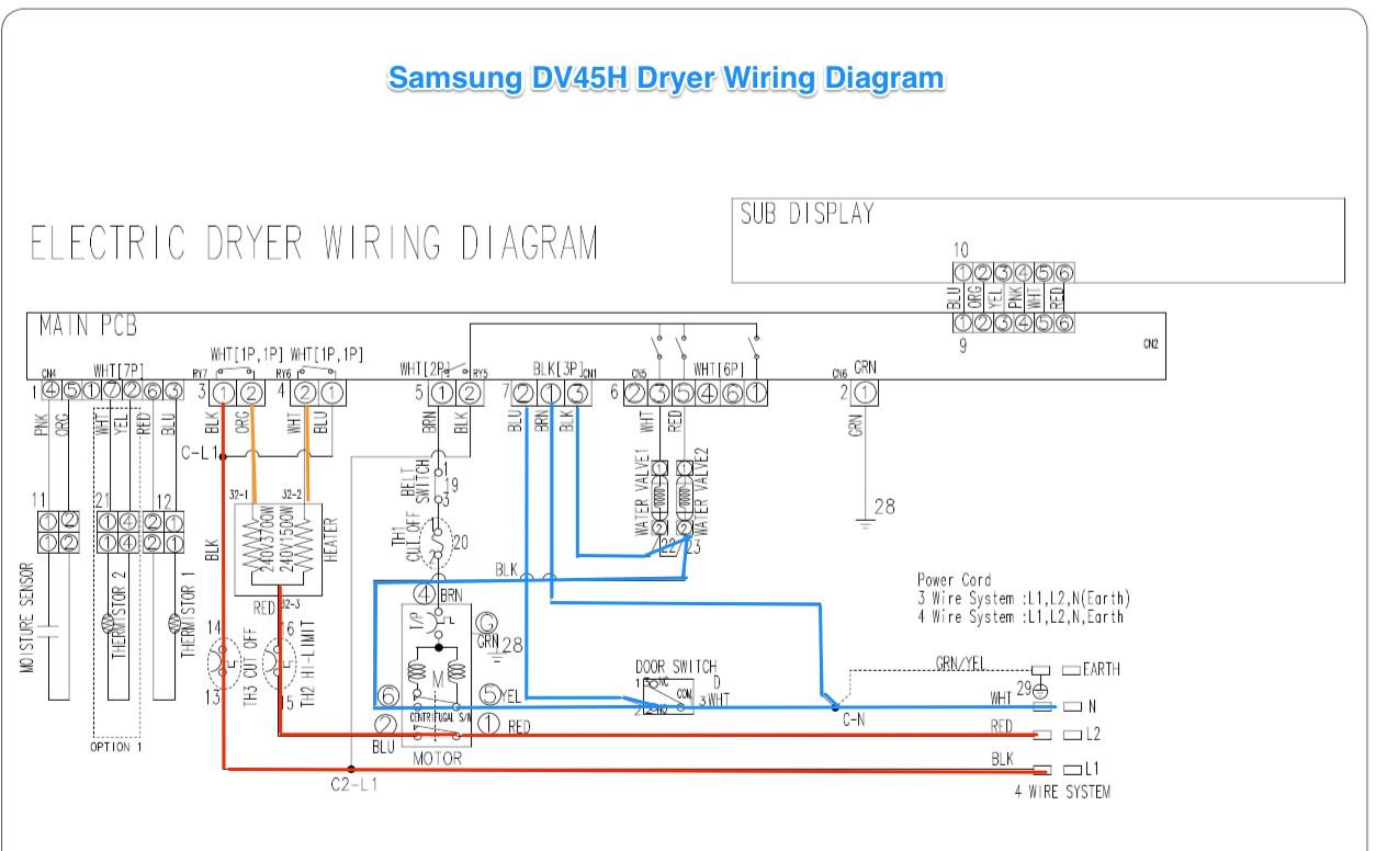 1267 samsung dv42h dryer wiring diagram