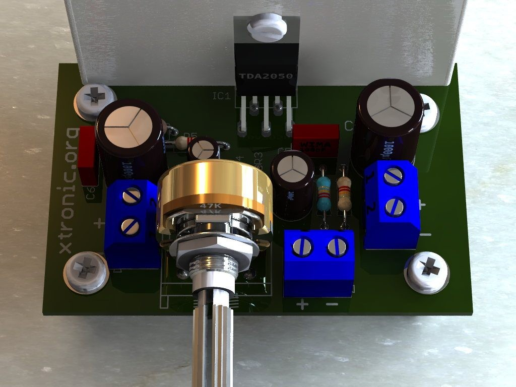 circuit 32w hi fi audio power amplifier tda2050 xtronic