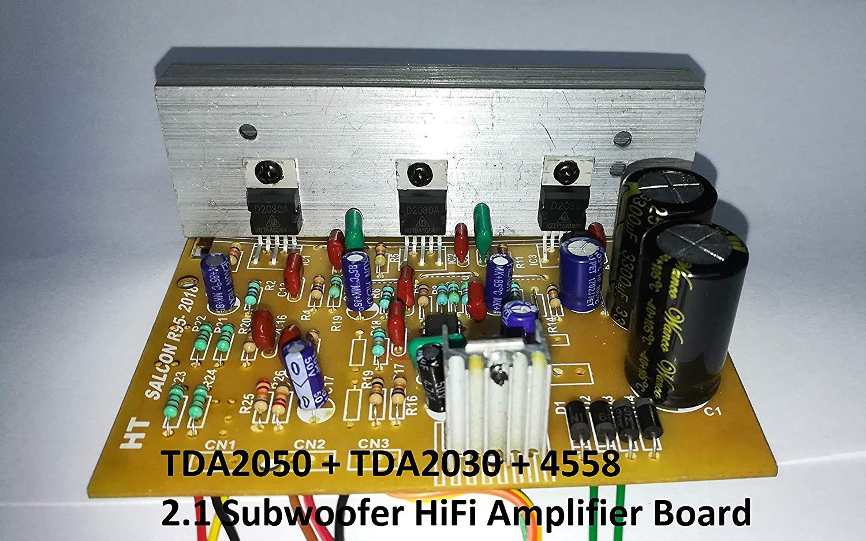 salcon electronics tda2050 tda2030 4558 21 subwoofer hifi amplifier